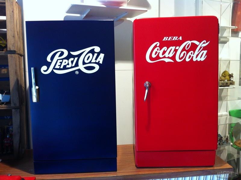 Antigua nevera heladora cocacola pepsi muebles vintage - Nevera coca cola retro ...