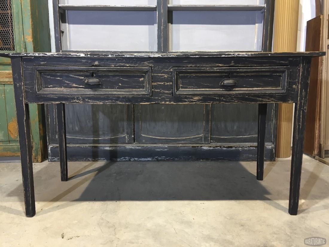 Antigua mesa de cocina muebles vintage industrial - Mesas antiguas de cocina ...
