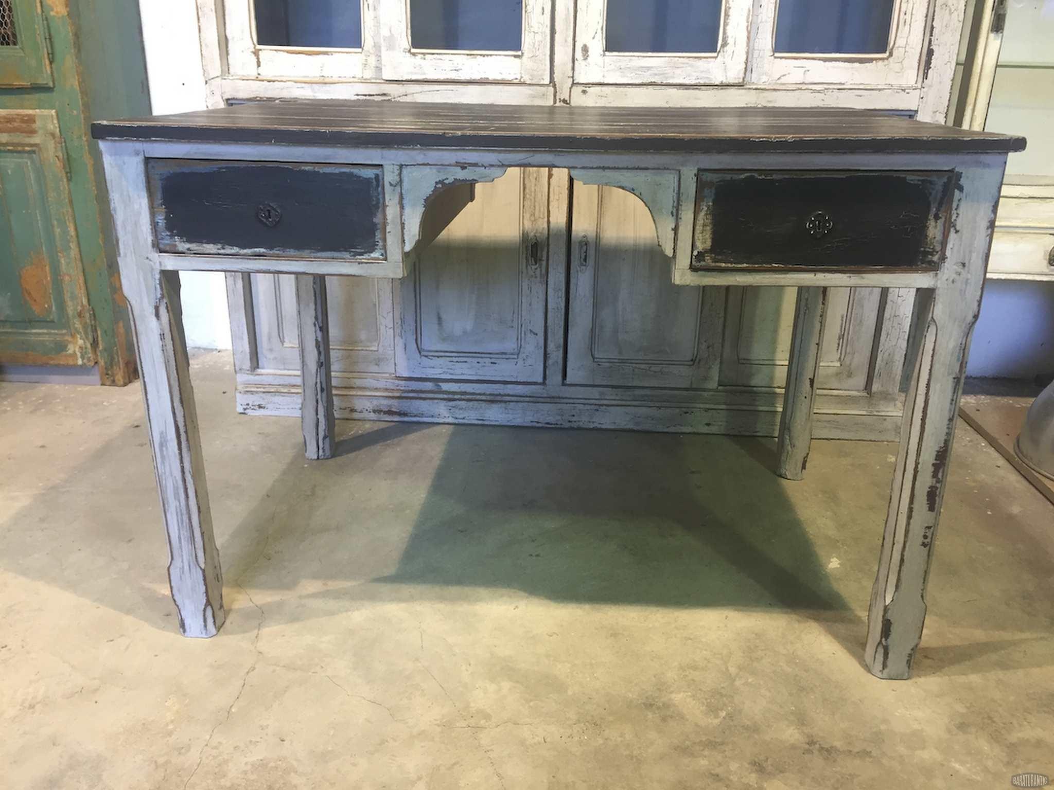 Antigua mesa de cocina shabby chic muebles vintage - Mesa de trabajo cocina ...