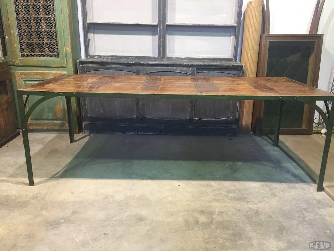 Antigua Mesa Industrial de Oficios - Muebles Vintage Industrial ...
