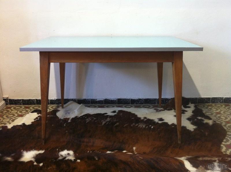 Mesa comedor cuadrada retro vintage muebles vintage - Mesas comedor cuadradas ...